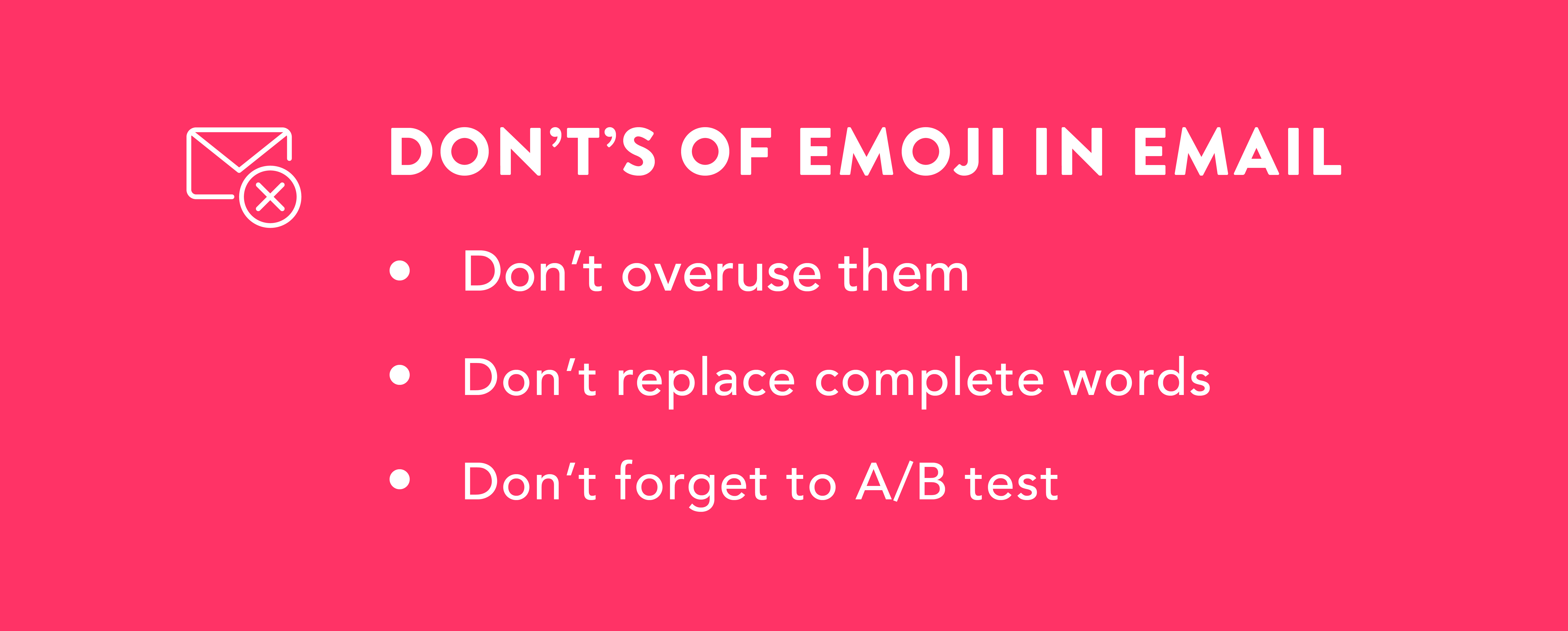 Don't's of emoji in email