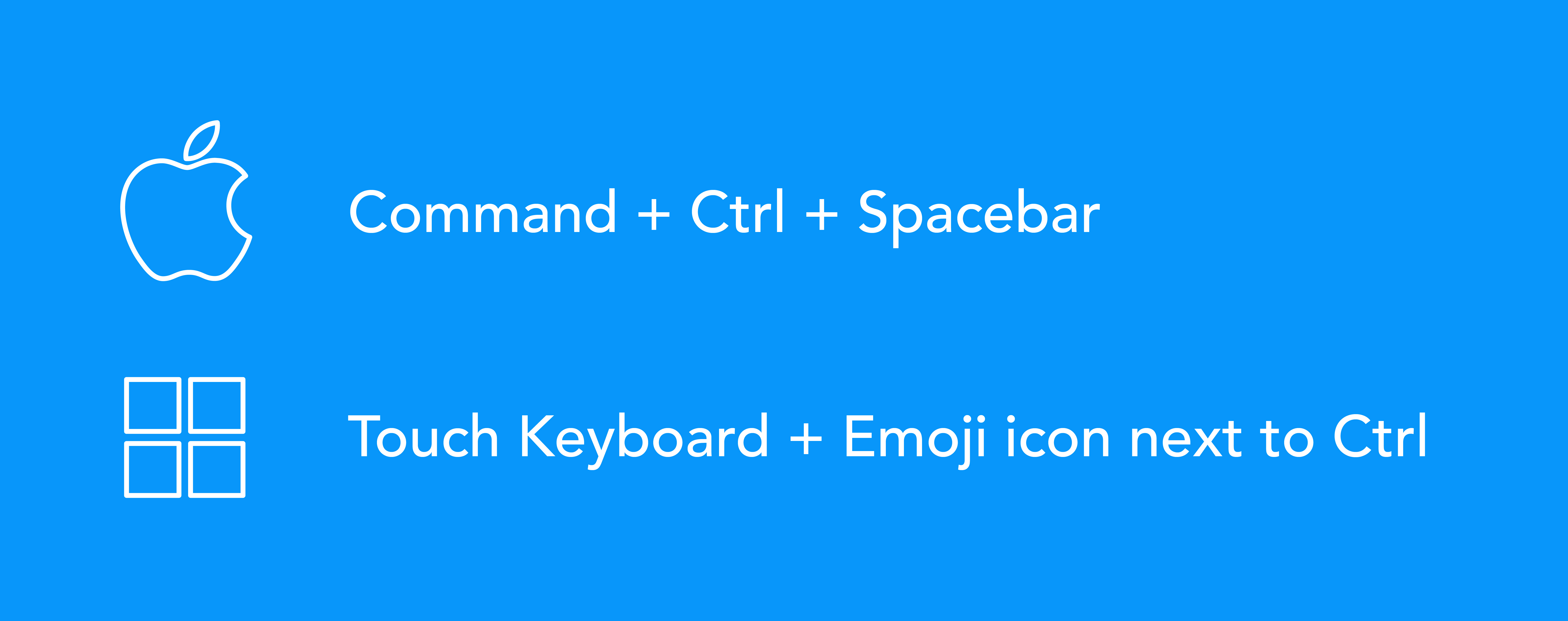 Using emoji on Mac or Windows